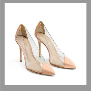 New Nude and clear Shultz Stiletto
